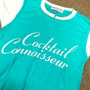 Wildfox Cocktail Connoisseur S Tee Shirt Top NEW